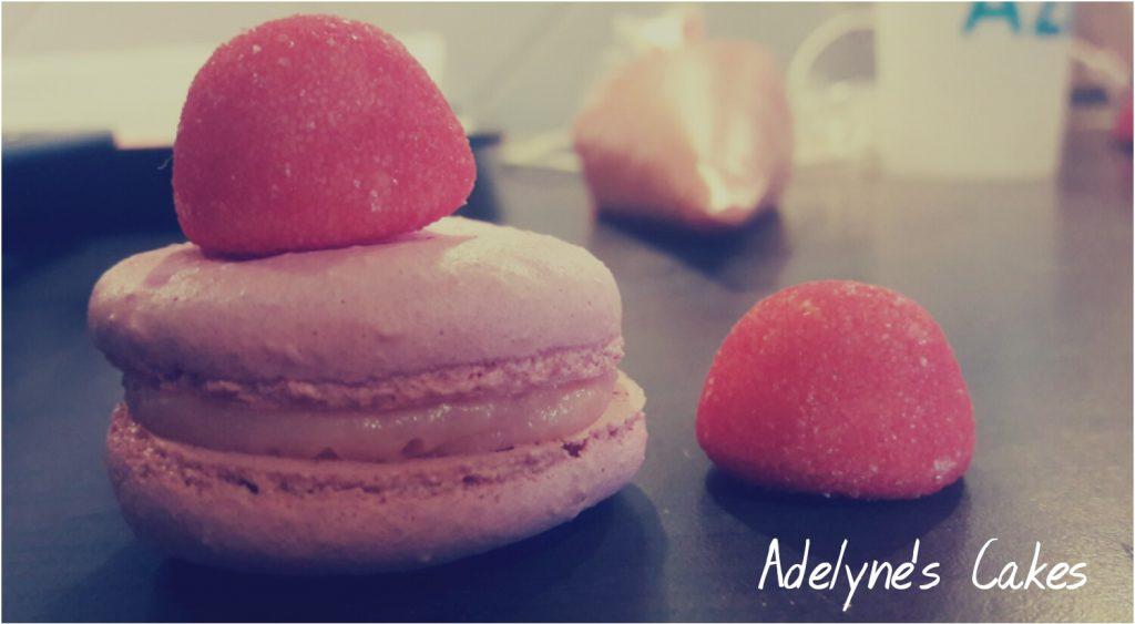 Macaron fraise tagada