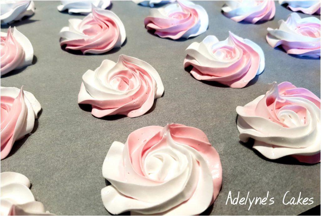 Roses en meringue