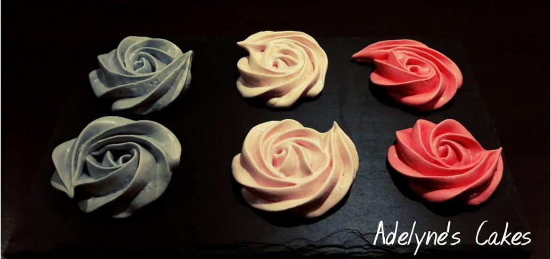 Roses en meringue italienne