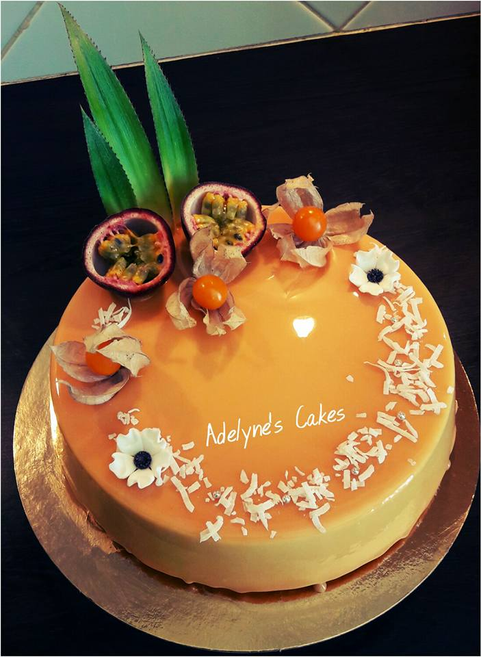 Entremets  exotique passion mangue