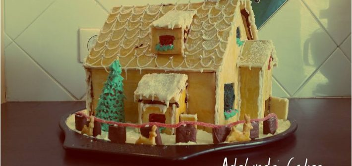 Maison de noel en biscuit