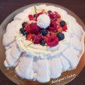 Pavlova fruits rouges coco