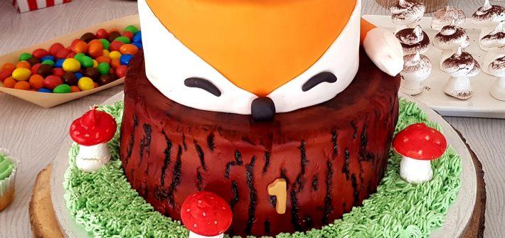 Cake design thème renard